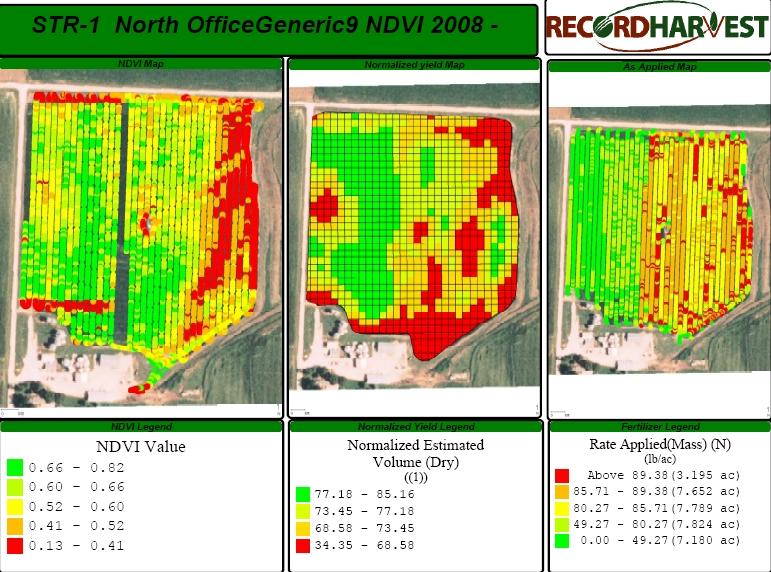 NDVI map and VRT N